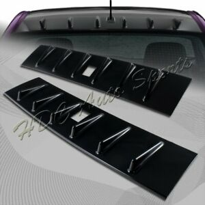 For 2008 2016 Mitsubishi Lancer Evo X Glossy Black Shark Rear Roof Spoiler Wing