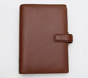 Filofax Bromley Smooth Calf Leather Chestnut Brown Personal Organizer Rare Bnib