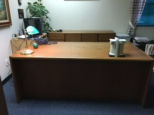 Reduced Price steelcase Executive Desk With Matching Credenza Lasting Quality