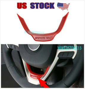 Fits Jeep Cherokee 2014 2019 Grand Cherokee Abs Red Steering Wheel Cover Trim