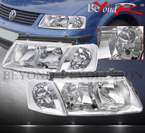 98 00 Passat Replacement Head Lights Assembly Turn Corner Signal Lamps Clear
