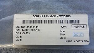 Bourns 4420p t02 103 Resistor Network Array 10k Ohm 2 20 Pins Smt Lots Of 80