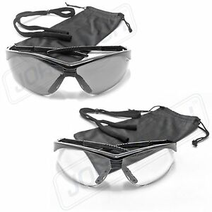 Safety Glasses Clear Lens Sport Work Eyewear 12 Pair Z87 1 New Smoke