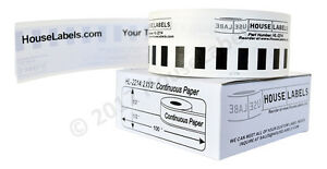50 Rolls Of Dk 2214 Brother compatible continuous Labels bpa Free