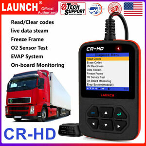 Launch Cr Hd Heavy Duty Truck Code Reader Diesel Gasoline Car Diagnostic Scanner