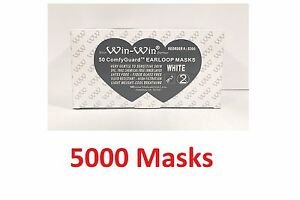 5000 Earloop Face Mouth Mask Disposable Dental Medical Surgical Flu Dust Nail