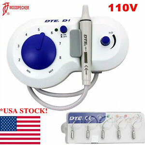Dental Ultrasonic Piezo Scaler Dte d1 sealed Handpiec 5 Tips Woodpecker Style Us