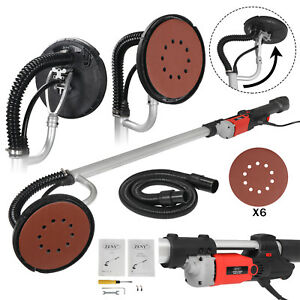 6 Round Sanding Pads Drywall Sander 800 Watts Commercial Electric Variable Speed