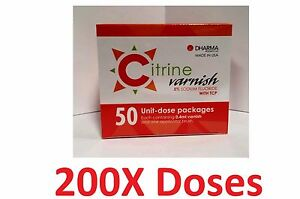 Citrine Fluoride Varnish 5 Sodium Fluoride With Tcp 200 Unit dose Pack Dharma