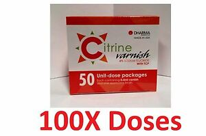 Citrine Fluoride Varnish 5 Sodium Fluoride With Tcp 100 Unit dose Pack Dharma
