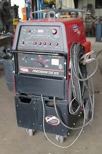 Lincoln Precision Tig 375 Welder K1093 1 With Cart Excellent Condition