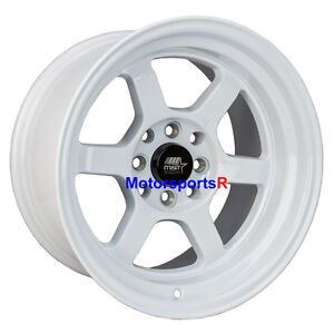 Mst Wheels Time Attack Rims 15 X 8 0 White 4x100 Stance 02 Honda Civic Si Fit