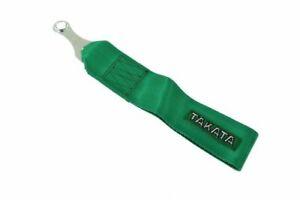 Universal Jdm Racing Green Tow Towing Strap Hook