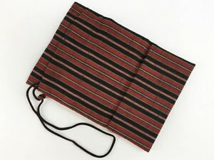 Vintage Japanese Katsuojima Striped Draw String Bag For Tabi Etc May F