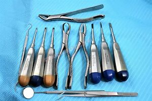 New German 12 Pcs Premium Basic Oral Dental Surgery Surgical Instruments Set Kit