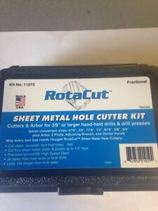 Hougen 11075 11 000 Series Sheet Metal Hole Cutter Kit