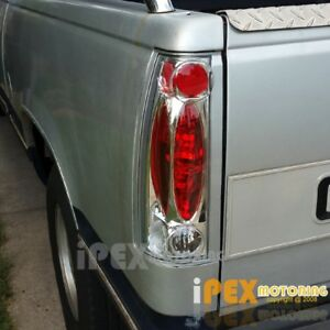1988 1998 Chevy Silverado Suburban Tahoe Gmc Yukon Chrome C K 1500 Tail Lights