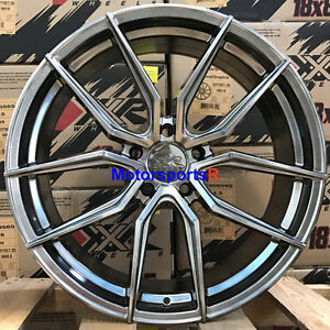 Xxr 559 18 X 8 5 35 Chromium Black Rims Wheels 5x114 3 16 Mitsubishi Lancer Gts