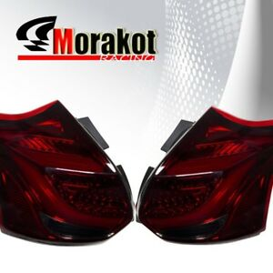 Ford Focus St 2012 2014 Hatchback Led Tail Light Chrome Housing Smoked Red Lens