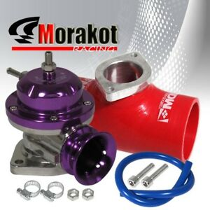 Universal Purple Type Rs Bov Blow Off Valve 2 5 Inch Red Flange Coupler Adapter