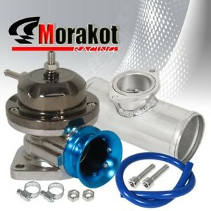 Jdm Gun Metal blue Lip Type rs Bov Blow Off Valve 2 5 Inch Aluminum Adapter
