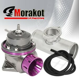 New 40mm Engine Purple Type fv Bov Blow Off Valve 2 5 52mm Aluminum Adapter Kit