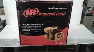 Ingersoll Rand Twin stack Port Electric Air Compressor 2 Hp 4 gallon 4 3 Cfm