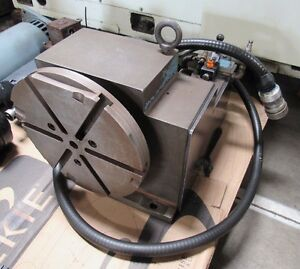 Rotary Table Indexer W Fanuc Motor Removed From Acroloc M 15 Cnc Vertical Mill