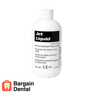 Lang Jet Denture Repair Acrylic Resin Liquid 236ml 8oz 1404 Lang Jet Denture