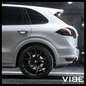 22 Xo Verona Black Concave Wheels Rims Fits Porsche Cayenne S Gts Turbo