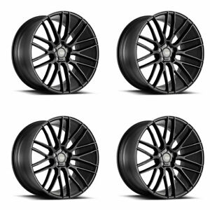 22 Savini Bm13 Black Concave Wheels Rims Fits Porsche Cayenne S Turbo Gts