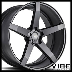 22 Savini Bm11 Black Concave Wheels Rims Fits Chrysler 300 300c 300s 300m