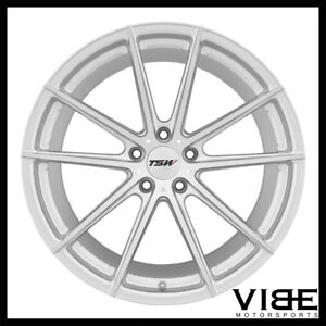 19 Tsw Bathurst Silver Forged Concave Staggered Wheels Rims Fits Acura Tsx