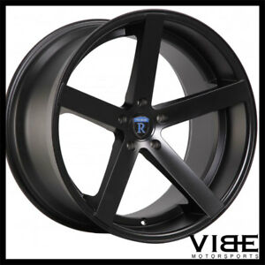 22 Rohana Rc22 Black Deep Concave Wheels Rims Fits Porsche Cayenne Turbo S Gts