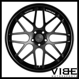 20 Vertini Magic Black Concave Staggered Wheels Rims Fits Pontiac G8 Gt