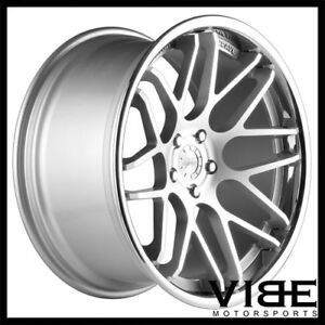 22 Vertini Magic Silver Concave Staggered Wheels Rims Fits Lexus Ls460 Ls600