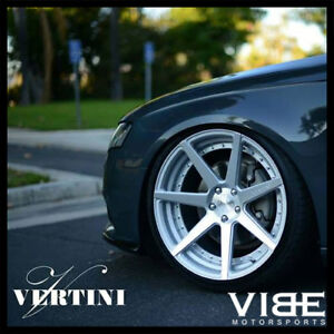20 Vertini Dynasty Silver Concave Staggered Wheels Rims Fits Acura Tl
