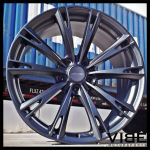 20 Ace Aspire Grey Concave Wheels Rims Fits Ford Mustang Shelby Gt Gt500