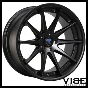 19 Rohana Rc10 Black Concave Wheels Rims Fits Nissan Maxima