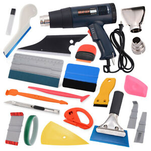 Heat Gun Vinyl Squeegee Felts Wrapping Install Tools Kits For Auto Film Clean Us