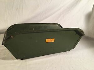 Vintage Nestier Stacking Metal Storage Bin Retro Green Industrial Storage