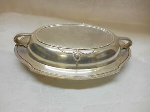 Silver Plate Covered Vegetable Dish Hallmarks Wallace