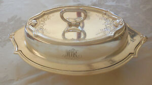 Silver Plate Covered Vegetable Dish Hallmarks Gmco E P