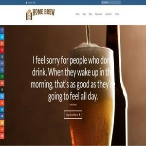 Fully Stocked Dropshipping Home Brewing Store Website Business secret Bonuses