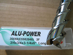 3 4 x3 1 4 Locx 6 Oal alu power 3 Flute Carbide End Mill Yg 1 Brand new