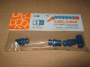 Loc line 1 4 Bspt Connector Pack Of 4 Coolant Hose 41418 For Lathe Or Mill