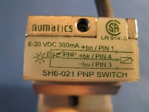 Numatics Hall Effect Sensor Sh6 021 Used