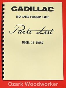 Cadillac 14 inch Metal Lathe Parts Manual 0111