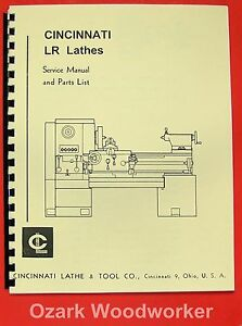 Cincinnati Lr Metal Lathes Instruction Parts Manual 0119