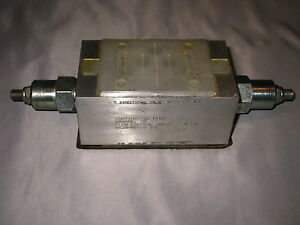Continental Hydraulics Dual Flow Control Valve N12s ndc g s d